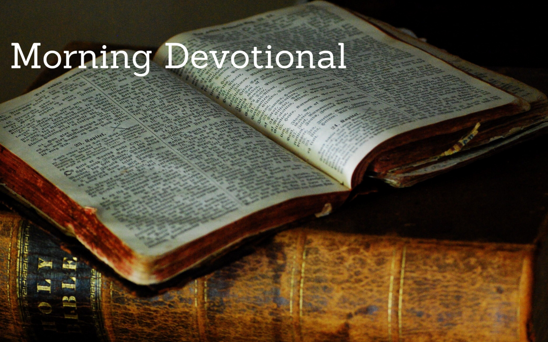 The Morning Devotional: Matthew 5:21-26 (Part One)